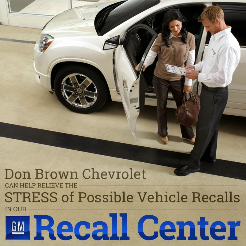 Don Brown's GM Recall Center Can Help With Possible Vehicle Recall Issues!