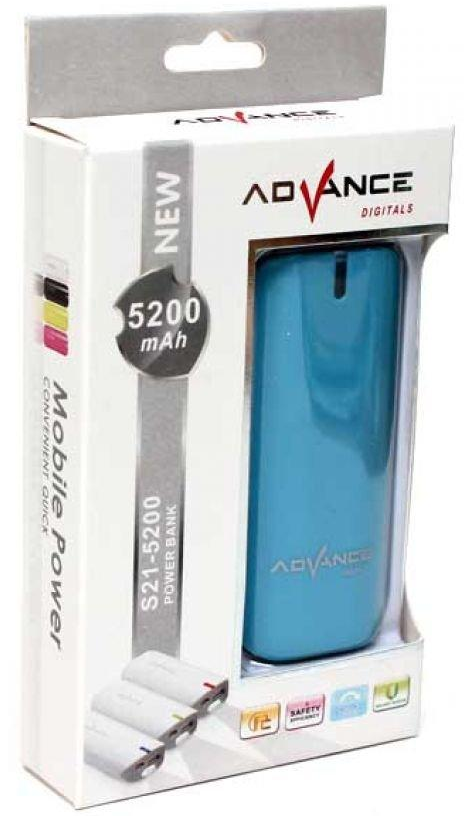 Spesifikasi Advance Power Bank S21- 5200 mAh