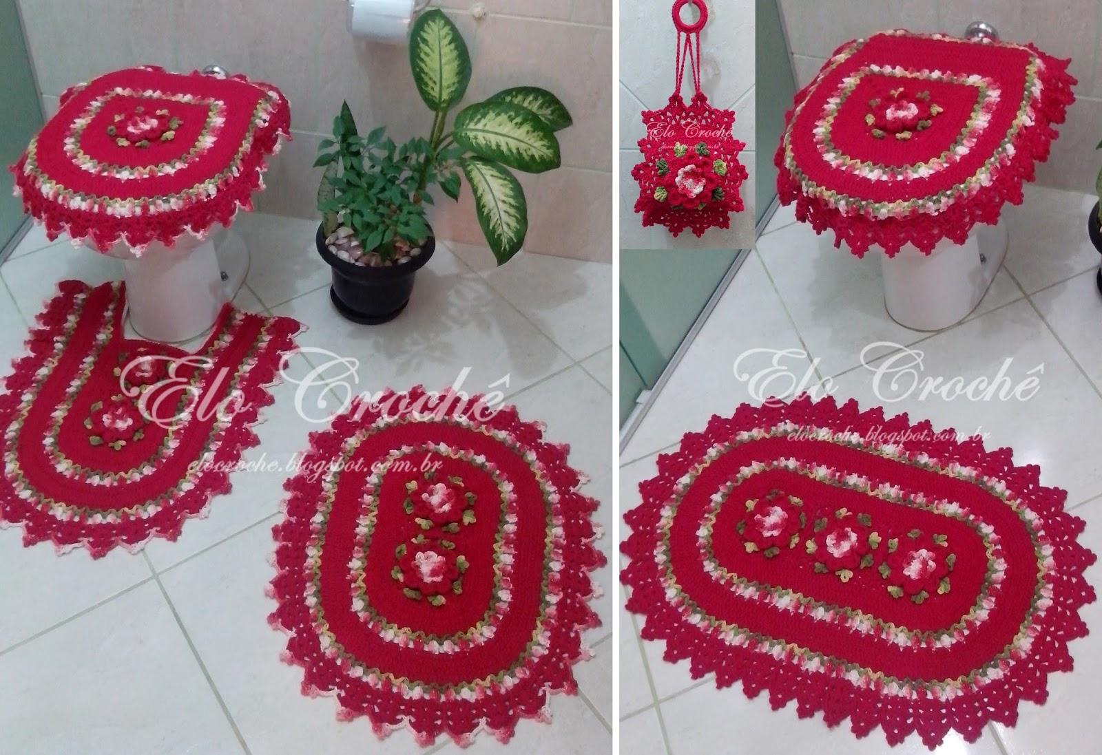 Jogo De Banheiro Primavera Laranja Passo A Passo : Elo croch? by eloiza castro jogo de banheiro em croch?