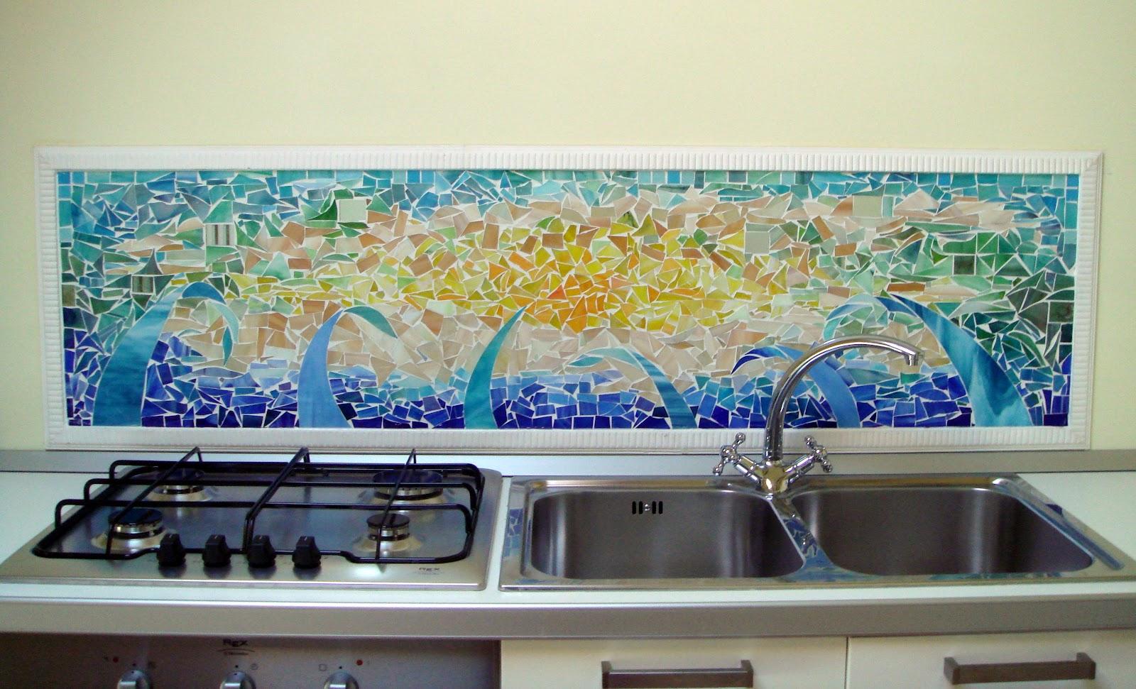 Archi tetti il mosaico di vetro