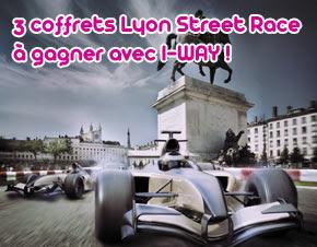 3 coffrets Lyon Street Race à gagner avec I-WAY
