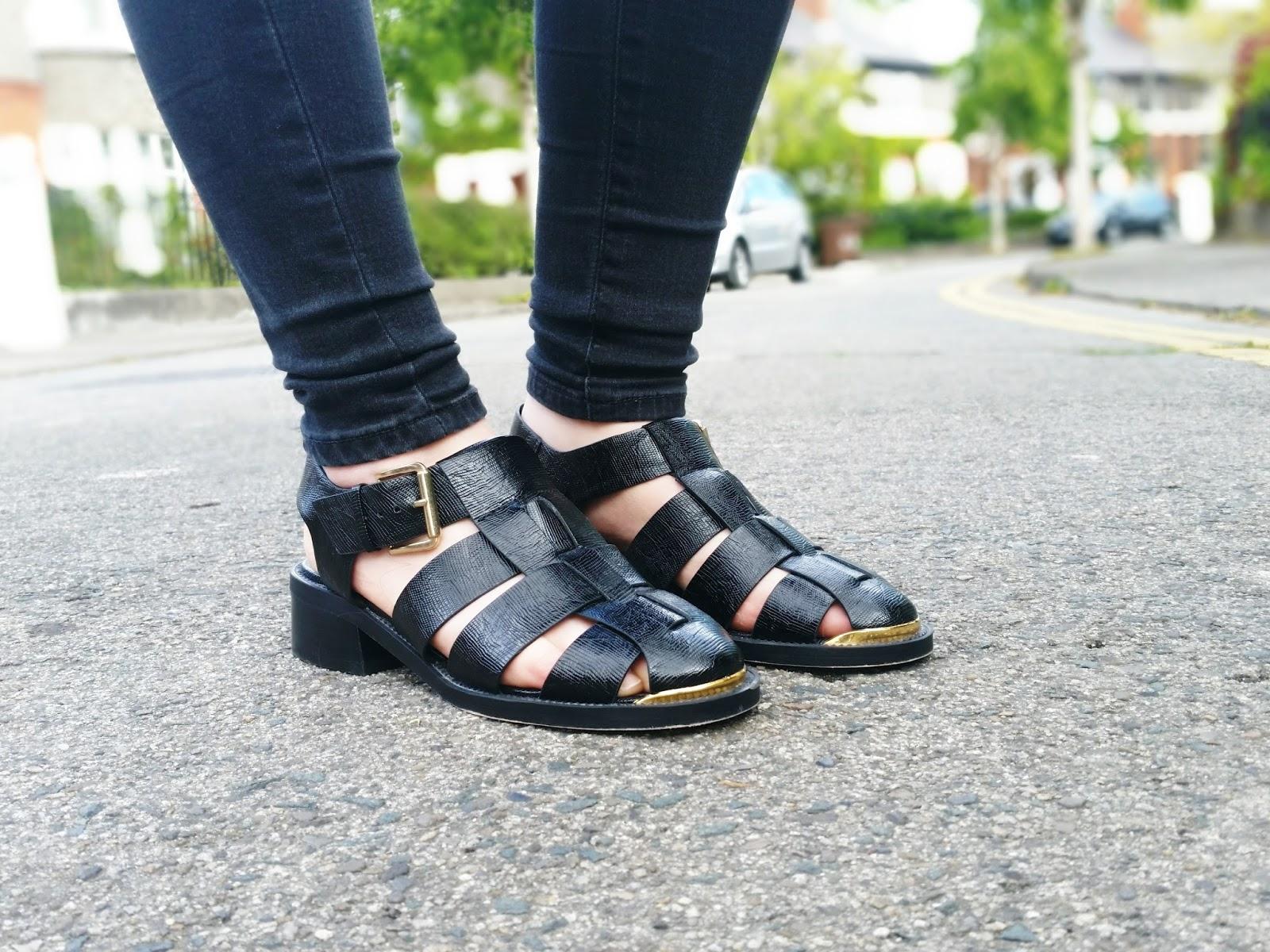 Topshop Klaxon Cut-Out Shoes
