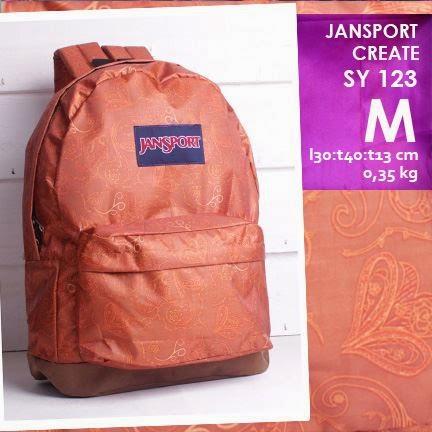 jual online tas ransel jansport kanvas kw murah motif batik