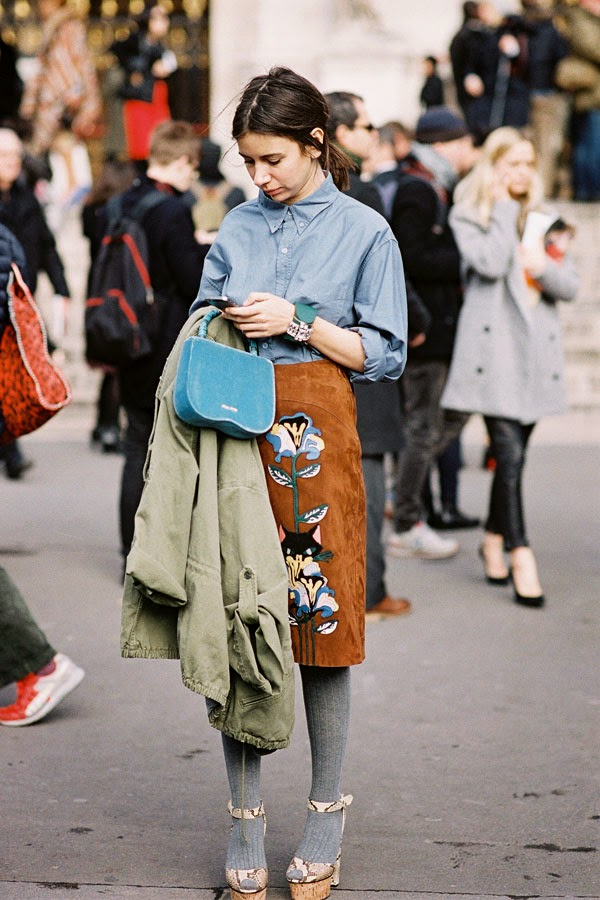 Vanessa Jackman: Paris Fashion Week AW 2014.Natasha and