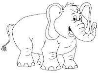 Smiling Elephant Printable Coloring Pages