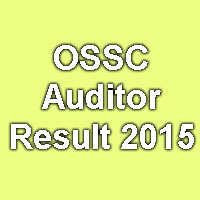 OSSC Exam Merit List for Auditor Exam 2015
