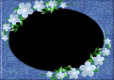 borde de fotos flores en png