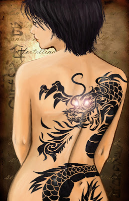 anime dragon tattoo design