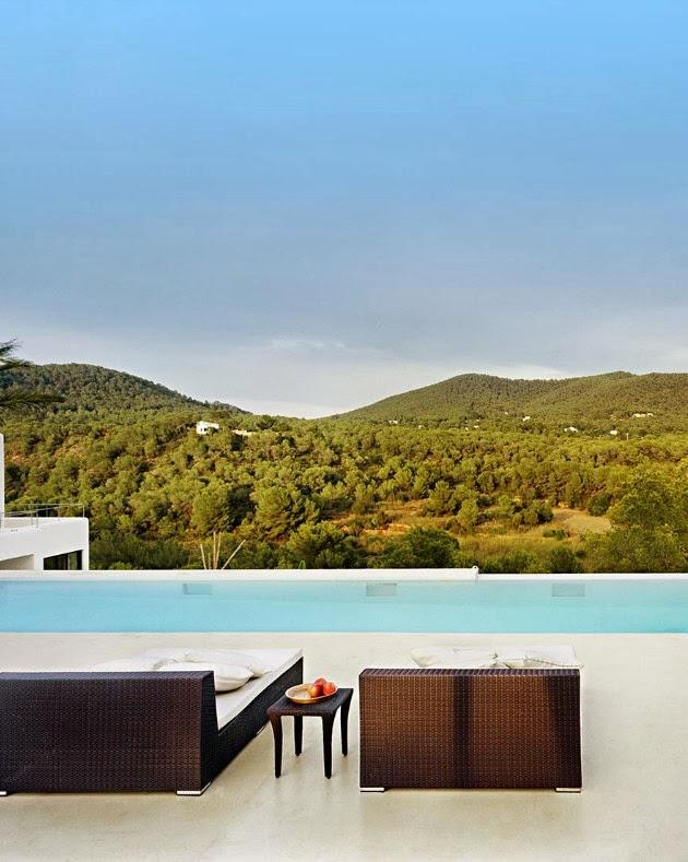 Terrace view from Ibiza dream home by Jaime Serra