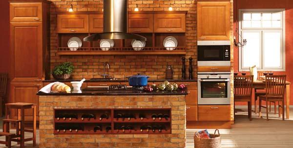 Deco chambre interieur id es de conception des murs de cuisine en briques - Cuisine avec brique rouge ...