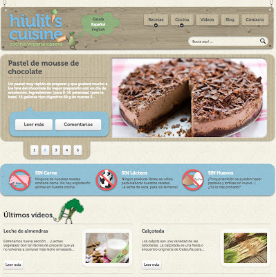 Captura de pantalla de la página de entrada de Hiulit's Cuisine.