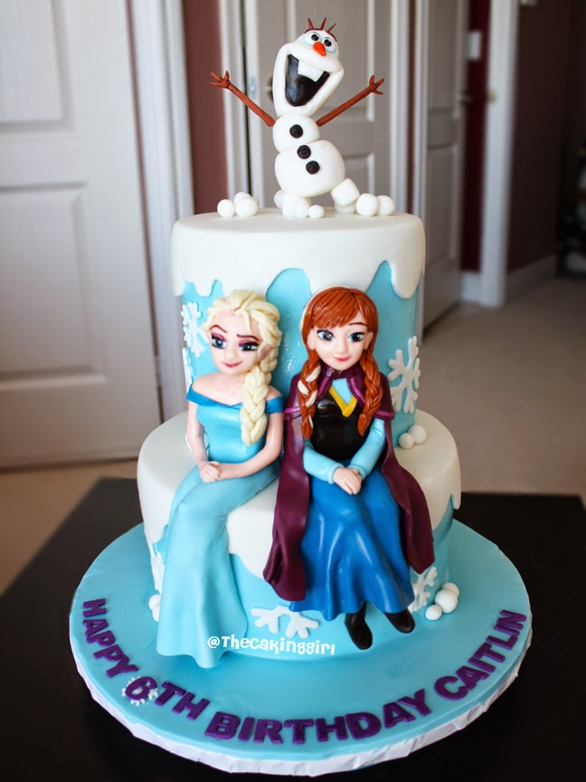 Elsa And Anna Cake Decoration : TheCakingGirl: My Frozen Elsa Anna Olaf Cake and Cupcake ...