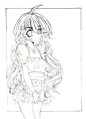 Menina em estilo mangá (desenho)