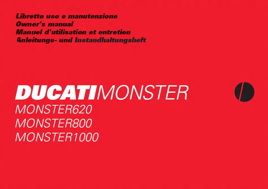 Ducai Manuals Resource  Ducati Monster 620 800 1000 2004