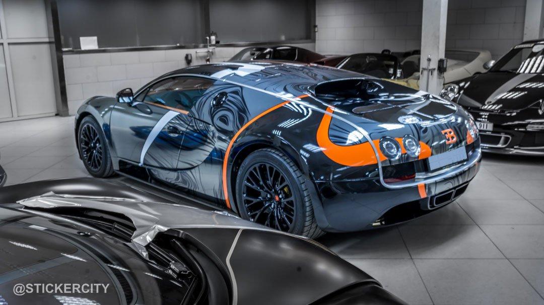 black chrome bugatti veyron super sport by sticker city cars motors. Black Bedroom Furniture Sets. Home Design Ideas
