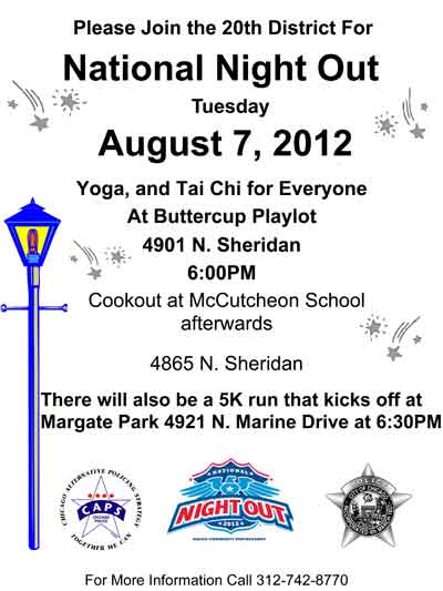 Uptown Update: National Night Out In Buttercup Park