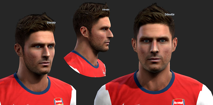 PES 2013 Olivier Giroud Face by ilhan