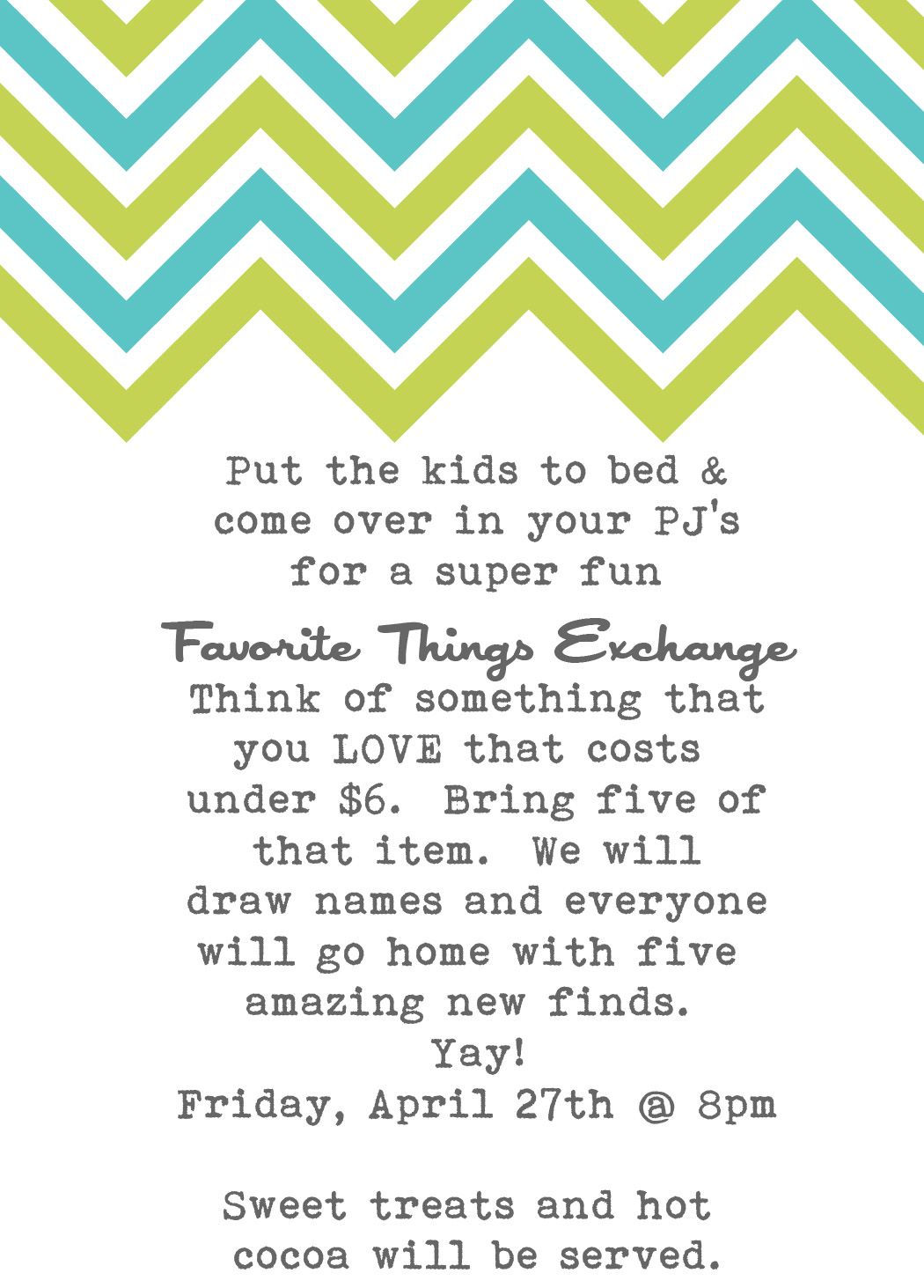 Favorite Things Party | Joy\'s Hope