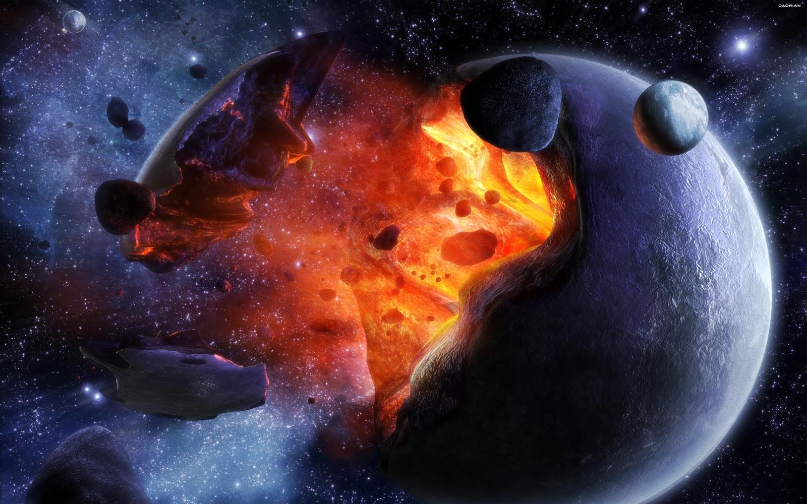 Exploding Planet Earth wallpaper 1080p