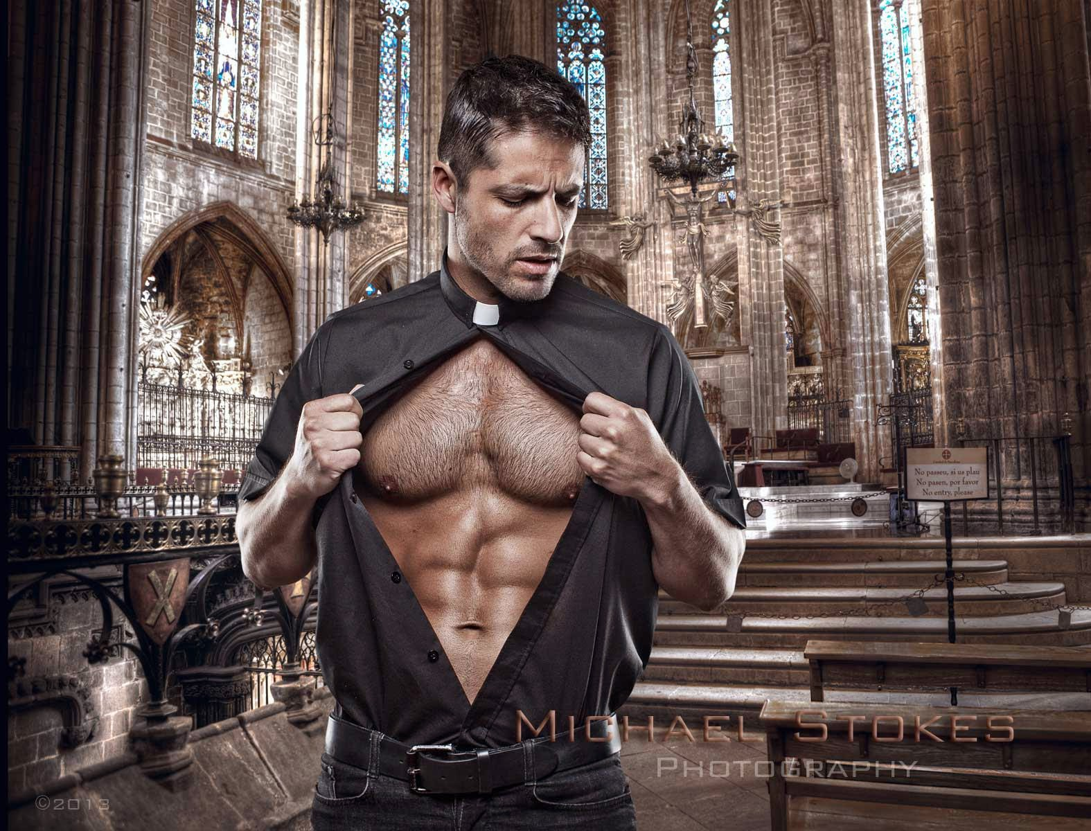 Nude sexy male priests softcore photo
