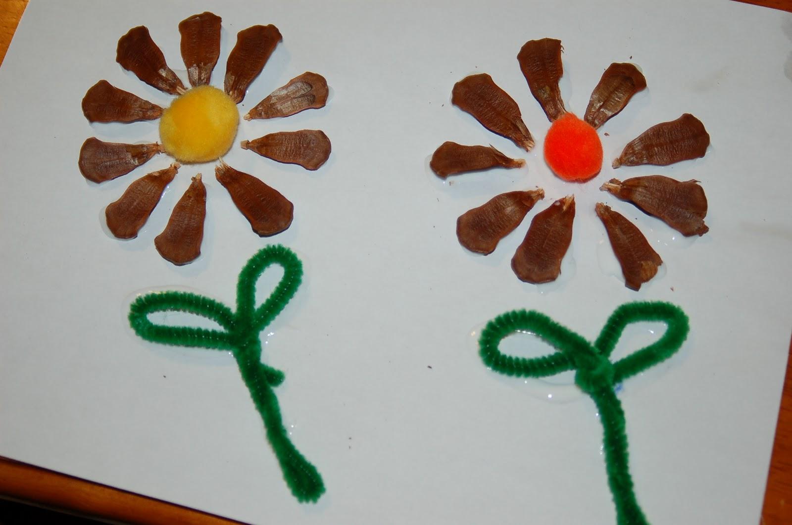 Pine cone flower craft for kids mightylinksfo