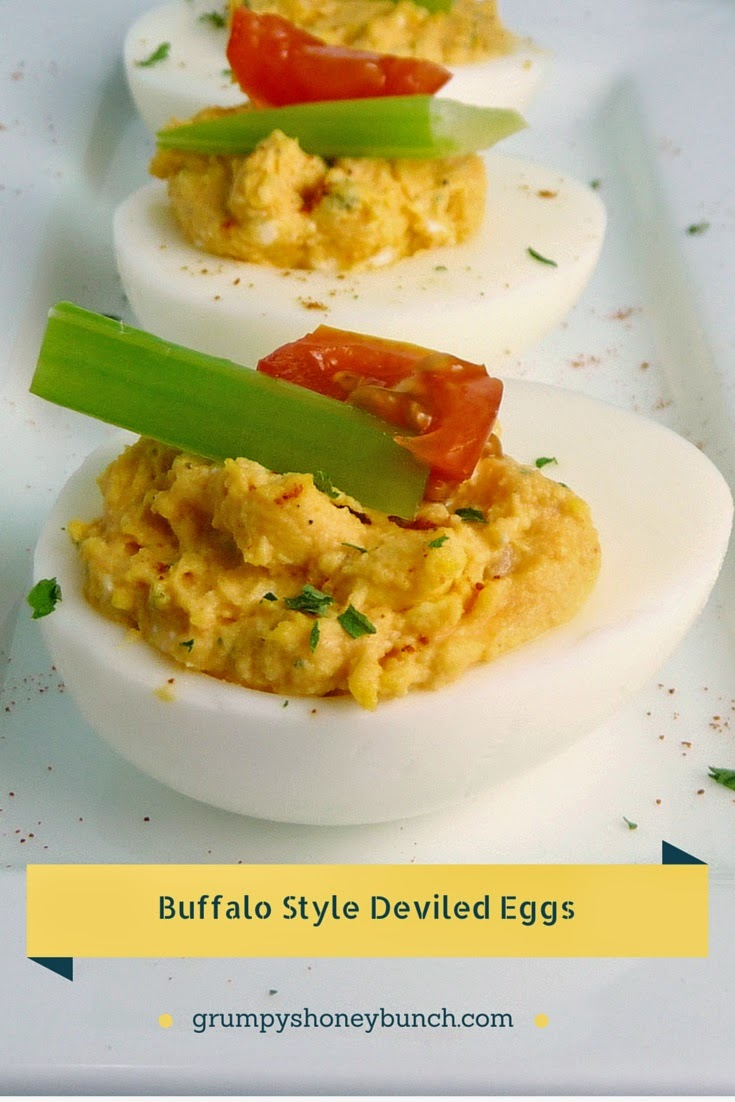Buffalo Style Stuffed Eggs - a different but delicious twist on Deviled Eggs