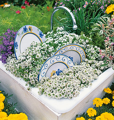 repurposed garden containers and tons of great ideas for