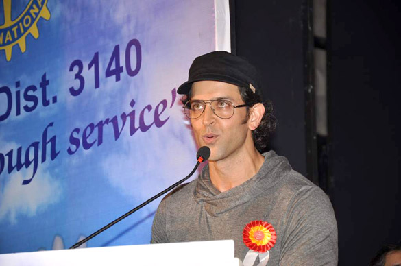 Hrithik Roshan At The Launch Function Of 'I Pledge 4 peace' Project