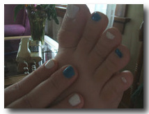 Photo of Kalisha's First Ever Mani-Pedi from Getting It Right-Occasionally Blog
