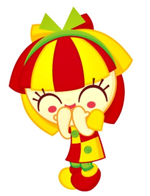Desenho Sítio do Picapau Amarelo Emília sorrindo colorido