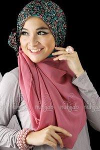 Nuhijab TS3 - Black Pink (Toko Jilbab dan Busana Muslimah Terbaru)