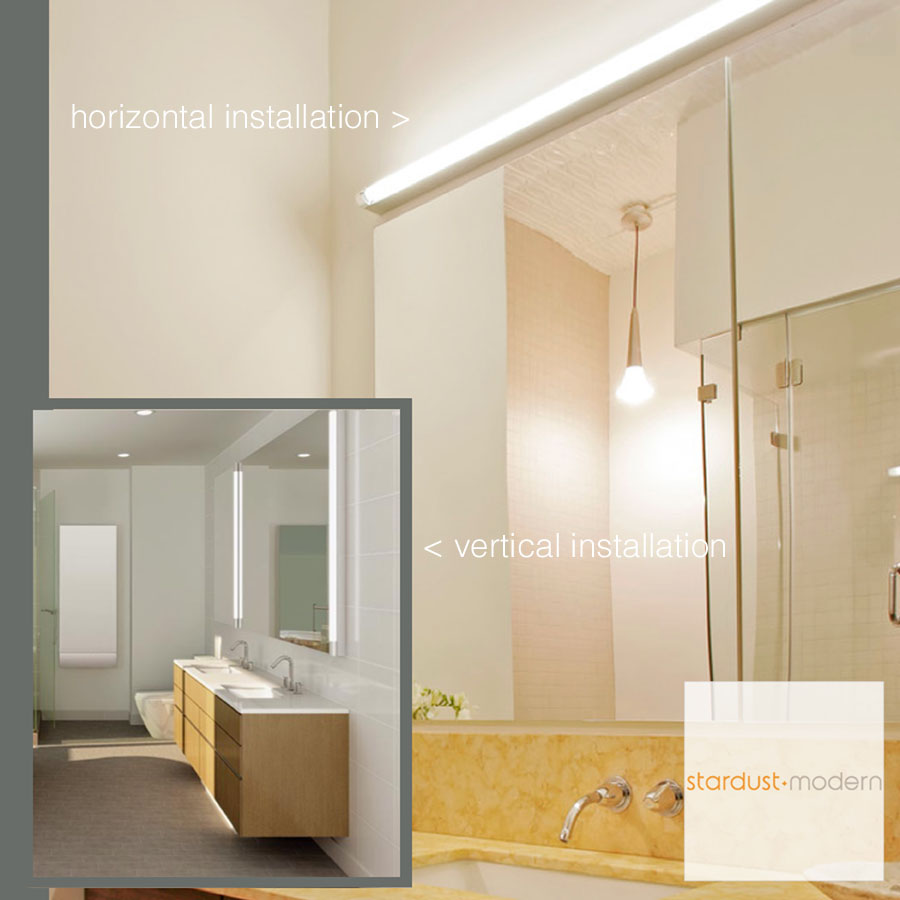 modern interior design: Basic-Strip Bathroom Wall Light - Silver/White : Artemide - Bathroom ...