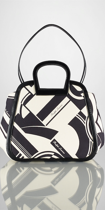 Medium Art Deco–Print Tote