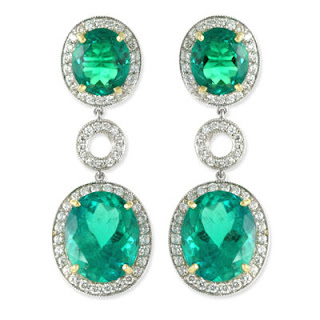 emerald drop earrings angelina jolie