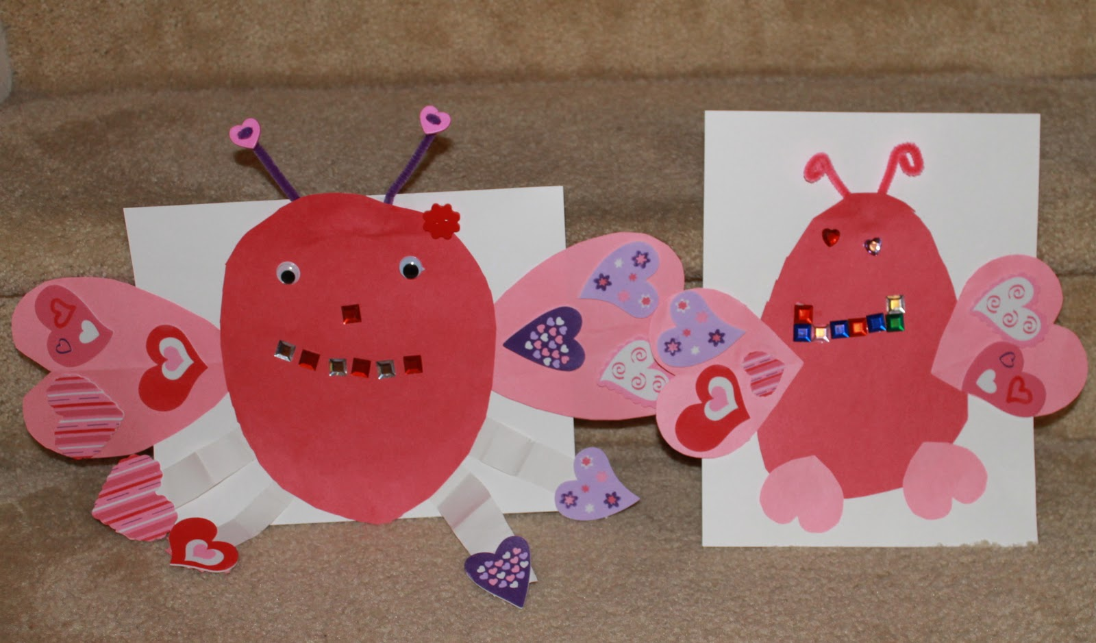 Valentine love bug craft - Love Bugs The Lil Divas Used Various Craft Supplies