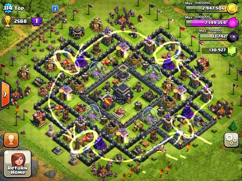 Clash all clans with team fatmat the deadly ring bases