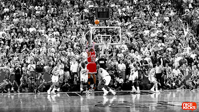 Michael Jordan Basketball Suprised Audience Selective Color HD Desktop Wallpaper