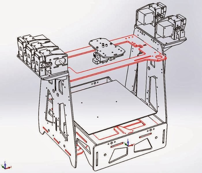 Diy 3d Printing Ordsolutions Mh3000 5 Color Or Material