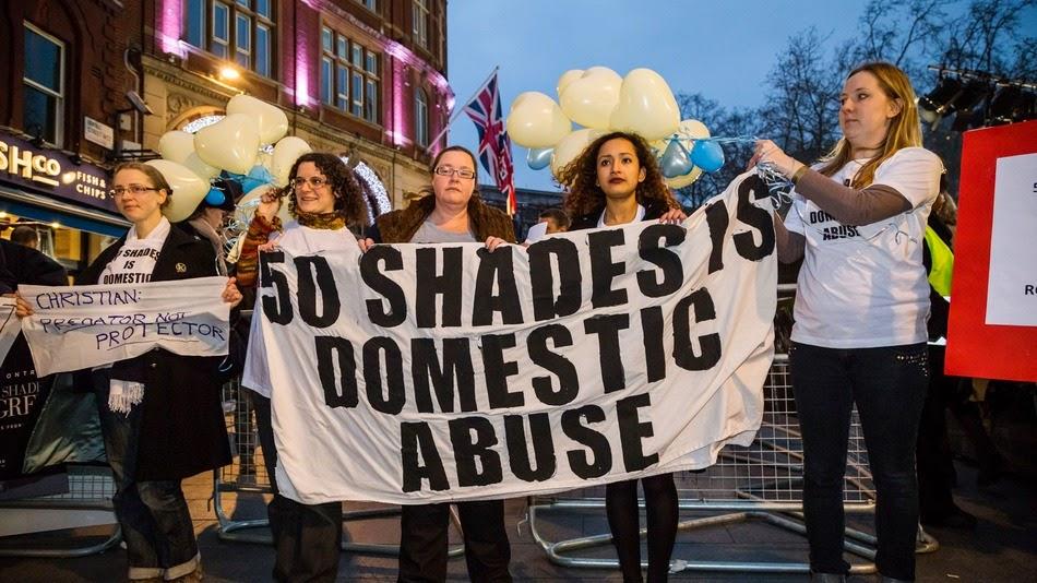 Cincuenta Sombras de Grey, 50 sombras de grey, premiere, londres, feministas, protestas, el zorro con gafas