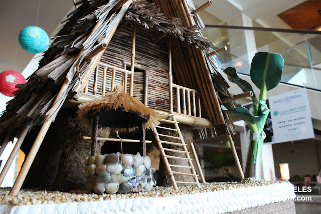 Miniature traditional Chamorro house