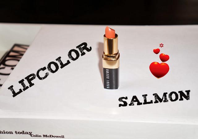 Bobbi_Brown_lipstick in Salmon