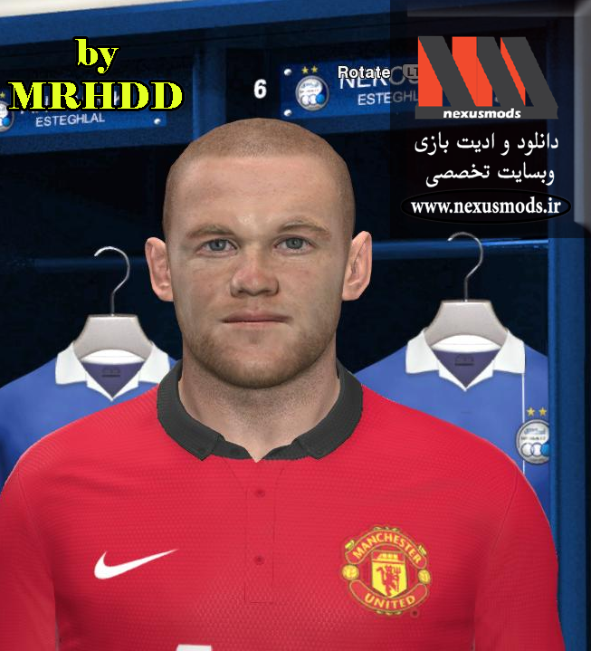 PES 2014 Rooney Face by MRHDD
