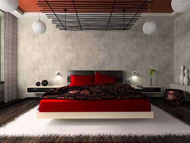 Chambre Romantique Rouge. Excellent Chambre Moderne Couple Chambre ...