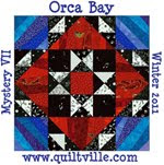Quiltville&#39;s Orca Bay Mystery Quilt