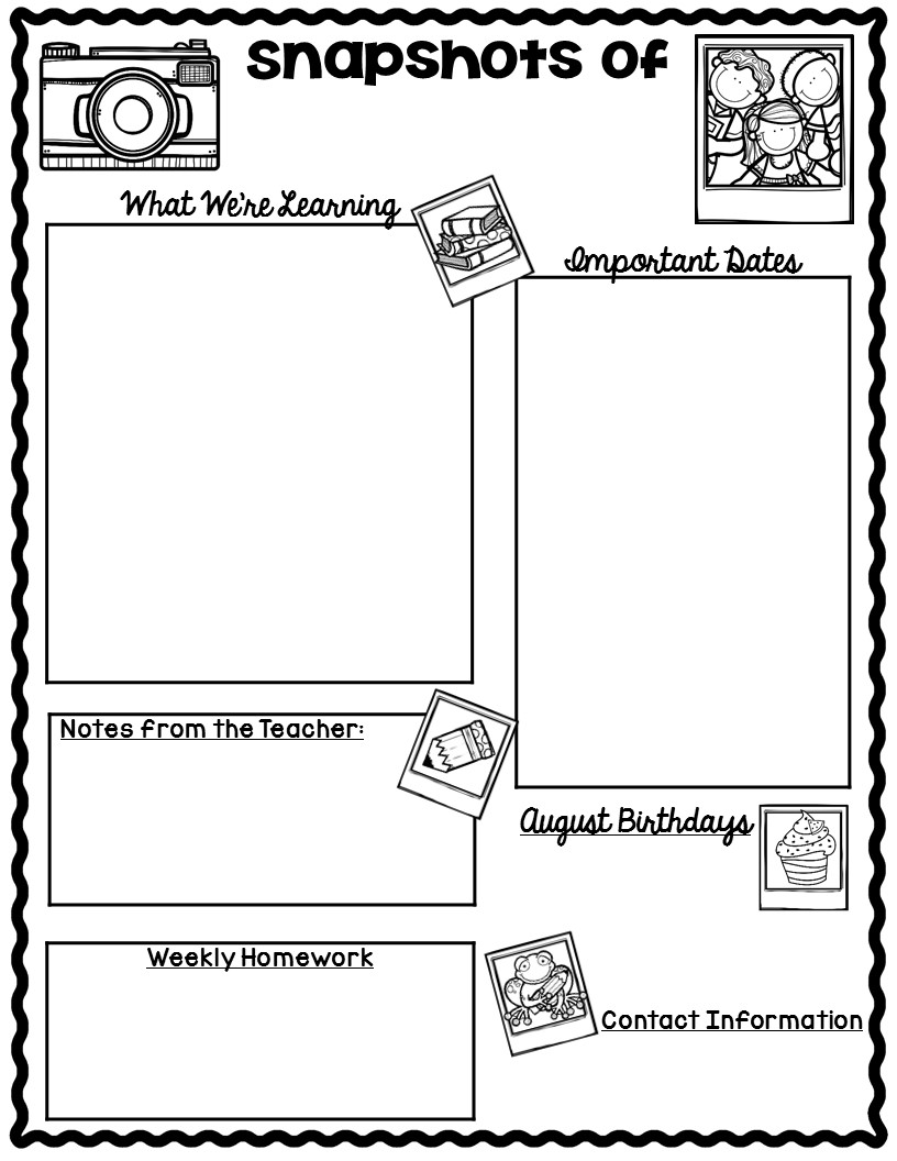 Weekly Newsletter Template Geccetackletartsco - Free newsletter templates for teachers