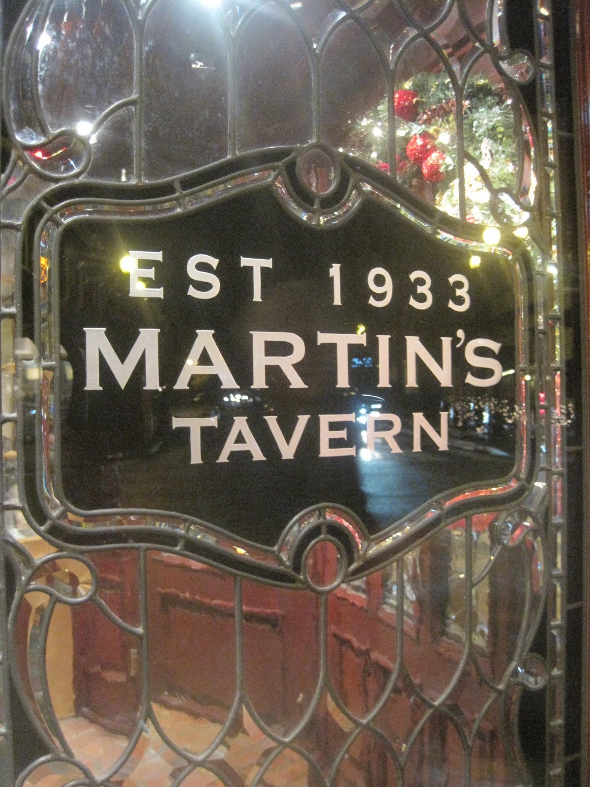 Martin's Tavern, Est. 1933 Georgetown, Washington, D.C.
