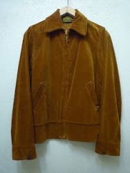 30's RUGBY'S PRODUCT FULL ZIP. CORDUROY SPORTS JACKET
