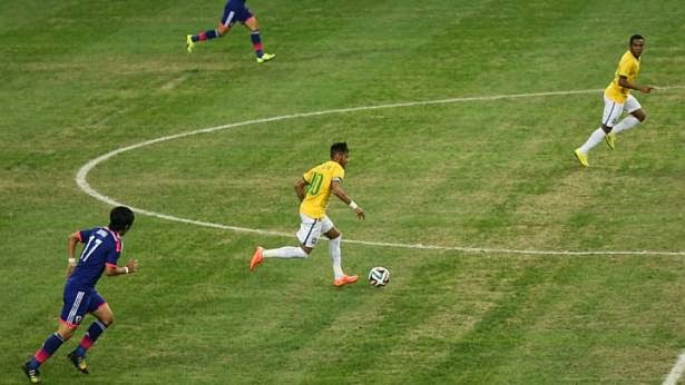 Brazil vs Japan Neymar