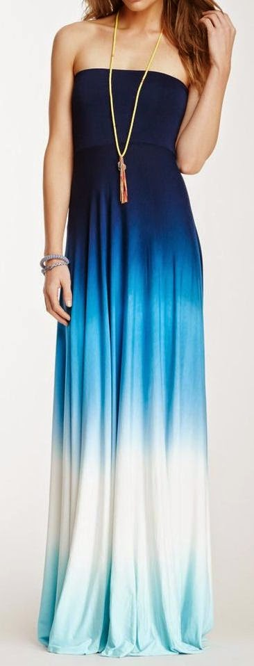 When your height is  not an issue, you can look as good as you wish with this ombre maxi