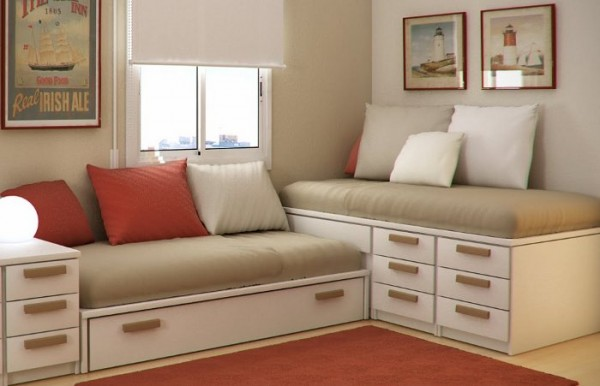 Guest room kids bedrooms small room kids room design for Camas para ahorrar espacio